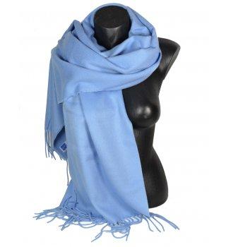 Châle uni acrylique Sira bleu ciel