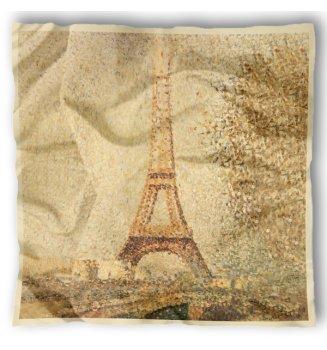 Carré en soie Tour Eiffel de Seurat