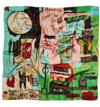 Carré en soie In Italian de Basquiat