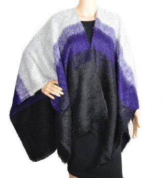 Poncho Cut violet