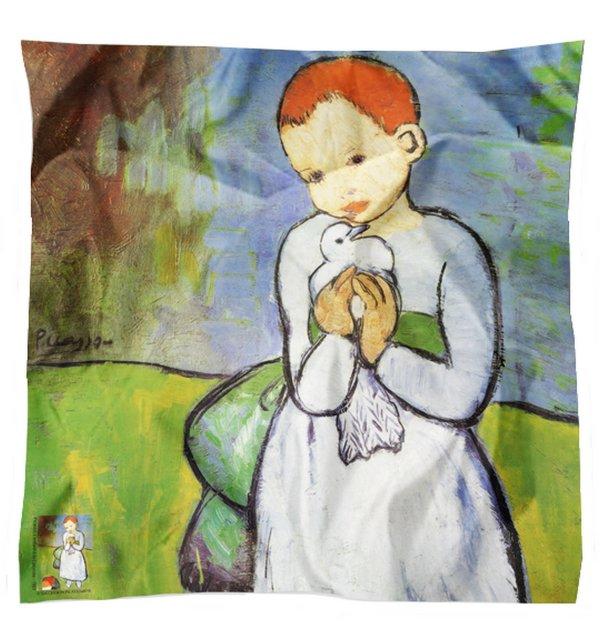 Carré en soie L'enfant à la colombe de Picasso