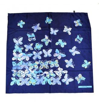 Carré en soie Papillons de Dufy - bleu