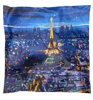Carré en soie Paris la Nuit