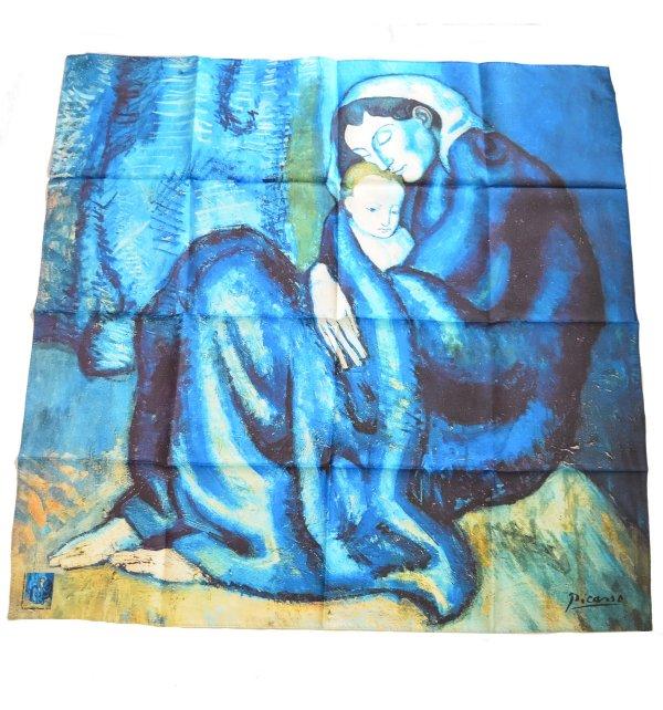 Carré en soie Mère et enfant de Picasso