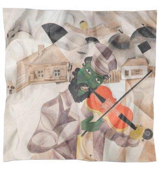 Carré en soie La musique de Chagall