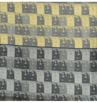 Foulard en soie homme Joconde de Vinci jaune