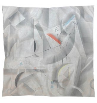 Carré en soie L'Amour sur scène de Chagall