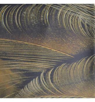 Foulard en soie homme Plumes brunes