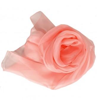 Foulard en mousseline de soie rose clair