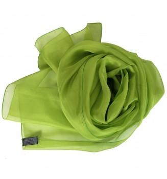 Foulard en mousseline de soie vert