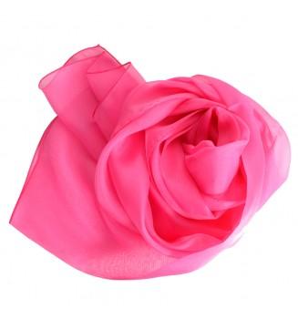 Foulard en mousseline de soie rose