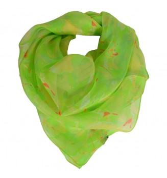 Carré en soie Givre vert