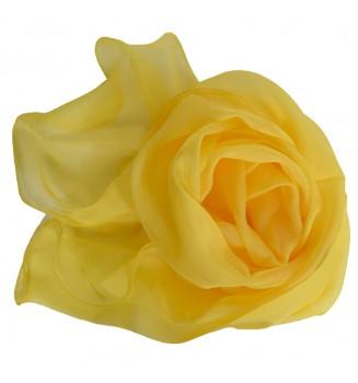 Foulard ondulé en mousseline de soie jaune