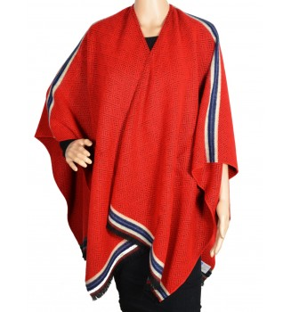 poncho chevrons rouge