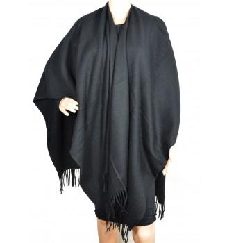 Poncho acrylique noir
