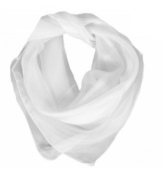 Carré en mousseline de soie blanc