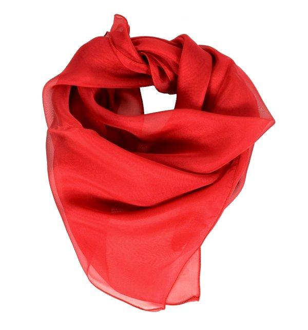 Carré en mousseline de soie rouge
