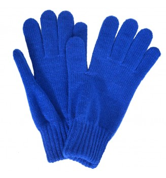 Gants femme bleu-roi made in France