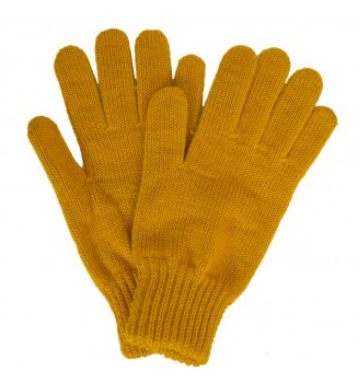 Gants femme moutarde made in France