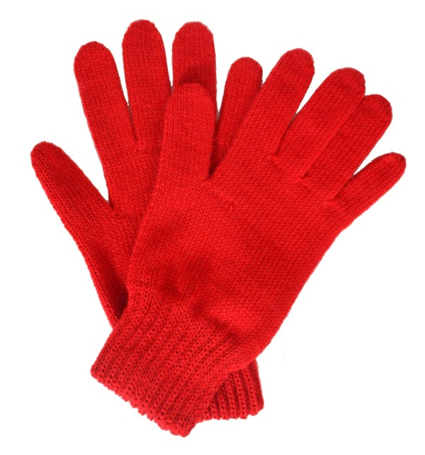 Gants femme rouges made in France