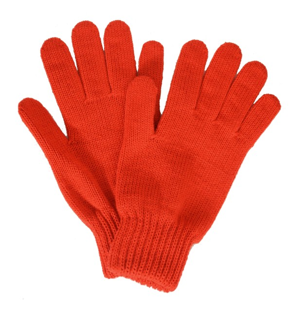 Gants femme orange made in France