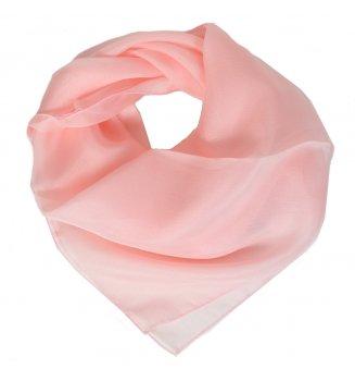 Carré en mousseline de soie rose clair
