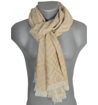 Echarpe laine mérinos Louis beige
