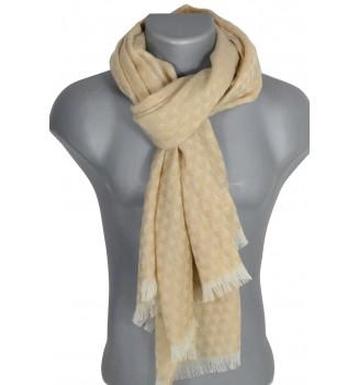 Echarpe laine mérinos Lao beige