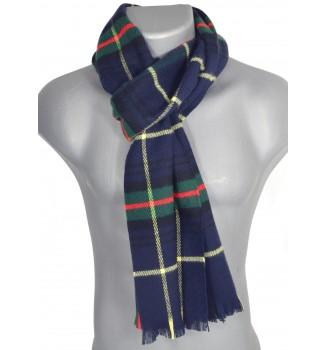 Echarpe acrylique Hugo écossaise bleue