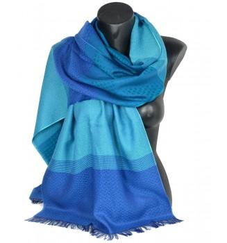 Echarpe Marin bleue