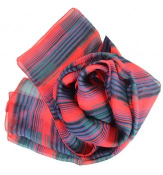 Foulard en soie Rayure rouge