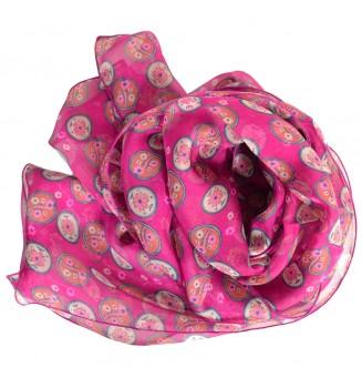 Foulard en soie Scandinave rose
