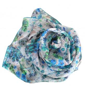 Foulard en soie Romantique bleu