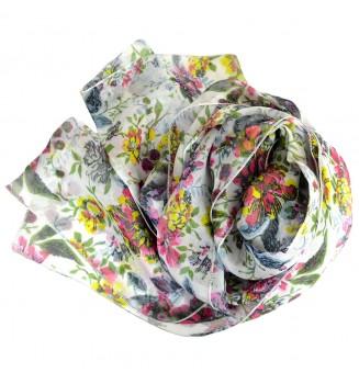 Foulard en soie Romantique rose
