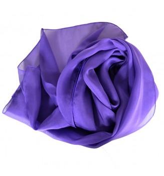 Foulard en mousseline de soie violet