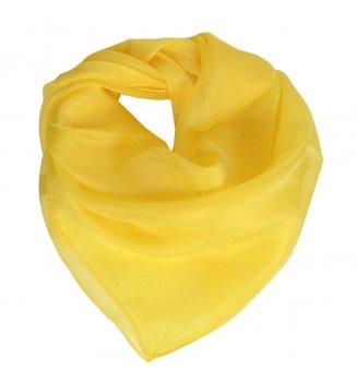 Carré en mousseline de soie jaune
