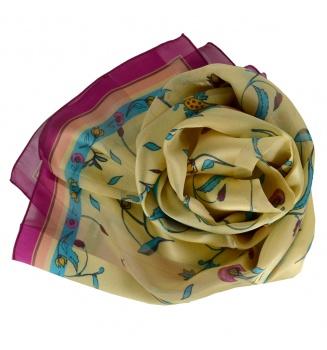 Foulard en soie Fleurs Persanes