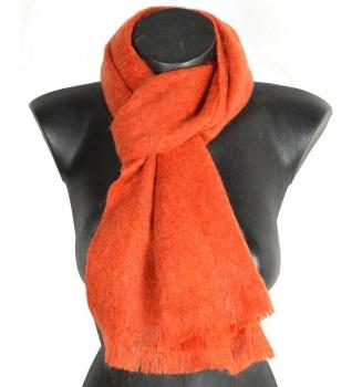 Echarpe mohair unie orange