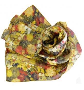 Foulard en soie Printemps de Arcimboldo