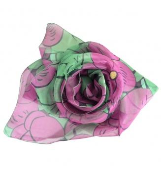 Foulard en soie Grosses Fleurs de Dufy - vert
