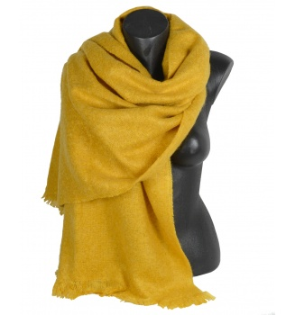 Châle mohair Milene jaune