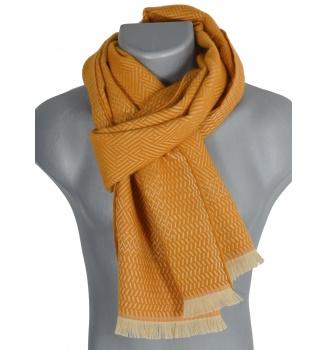 Echarpe laine Tchao orange
