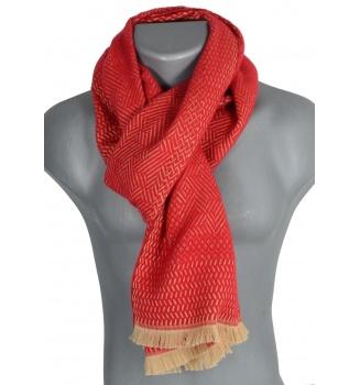 Echarpe laine Tchao rouge
