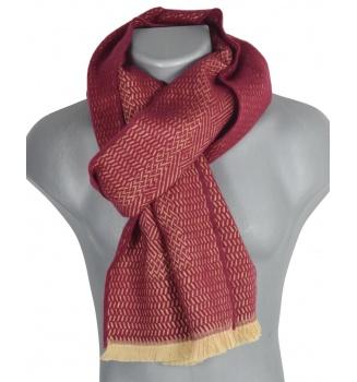 Echarpe laine Tchao bordeaux
