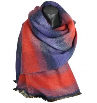 Châle Osmose rouge-violet