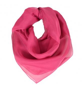 Carré en mousseline de soie rose bysantin