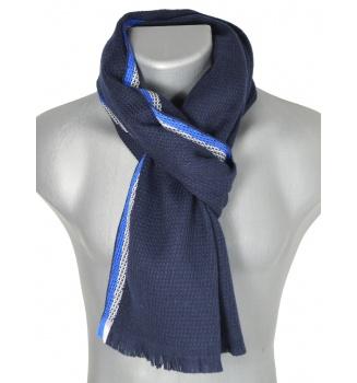 Echarpe mérinos Working bleue