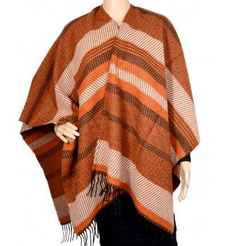 Poncho laine Argan orange