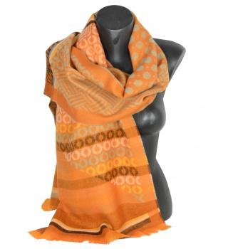 Echarpe en mérinos Levant orange