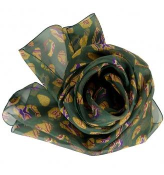 Foulard en soie Empreintes vert